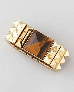 House of Harlow Studded Stone-Station Cuff