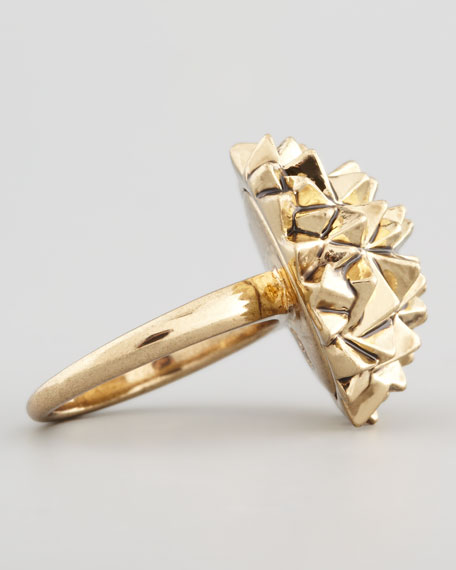Golden Crater Cocktail Ring