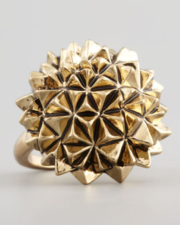 House of Harlow Golden Crater Cocktail Ring