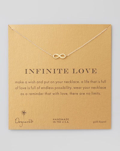 Infinite Love Gold-Dipped Infinity Necklace