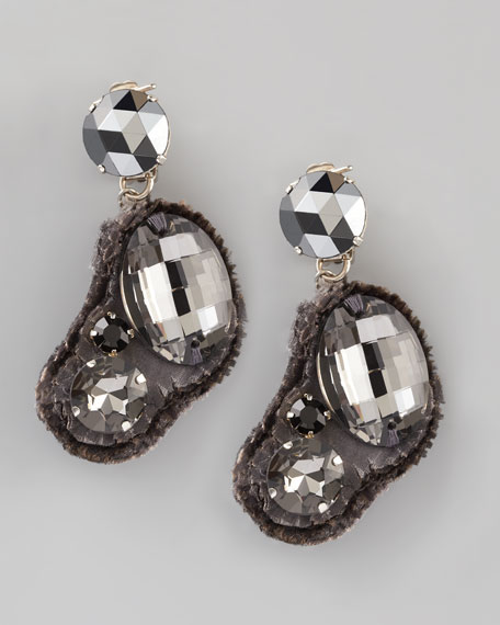 Fabric-Backed Earrings