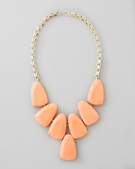 Harlow Necklace, Salmon