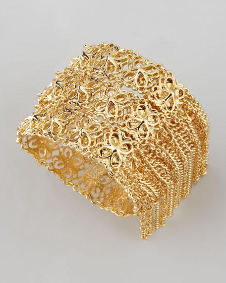 Ivy Fringe Bracelet, Gold