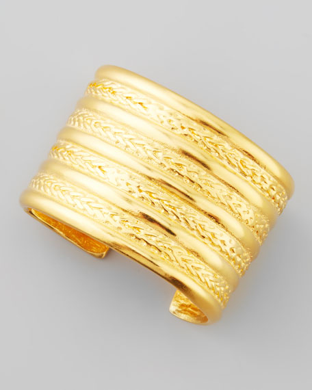 Braided Gold-Plate Cuff Bracelet