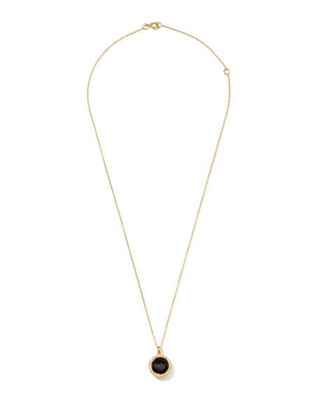 Rock Candy 18k Gold Mini Lollipop Necklace in Onyx & Diamond