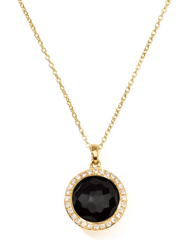 Ippolita Rock Candy 18k Gold Mini Lollipop Necklace in Onyx & Diamond