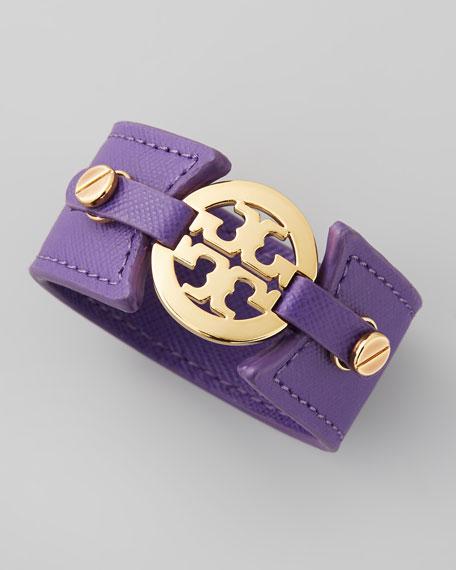 Skinny Logo Double-Snap Cuff, Purple