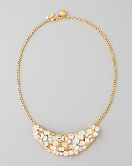 kate spade new york mini crystal-cluster-bib necklace