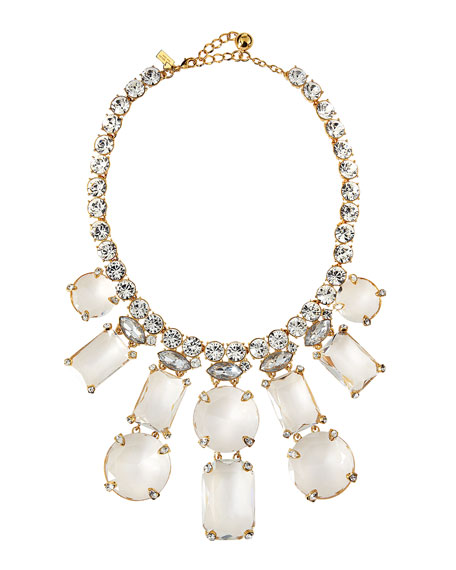 opening night statement necklace, clear