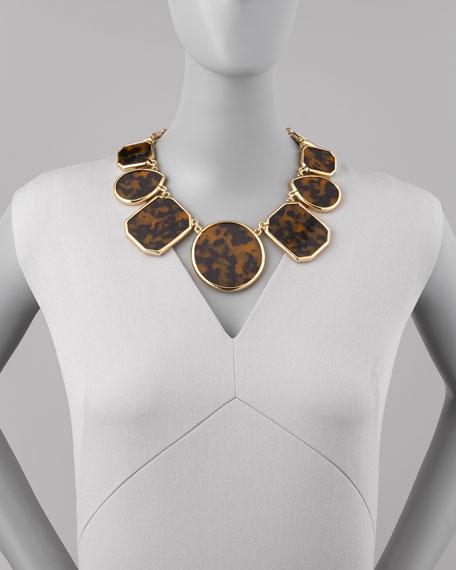 tortoise enamel necklace
