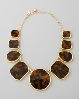 kate spade new york tortoise enamel necklace