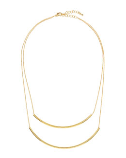Jules Smith Golden Double-Strand Bar Necklace