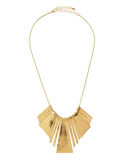 Jules Smith Wide Petal Bib Necklace