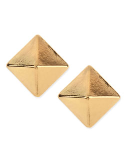 Jules Smith Large Pyramid Stud Earrings