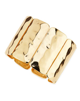 Jules Smith Hammered Golden Stretch Bracelet