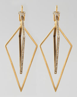 Paige Novick Diamond-Shaped Pave Crystal Earrings