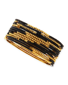 Jules Smith Skinny Set of Beaded Bangles