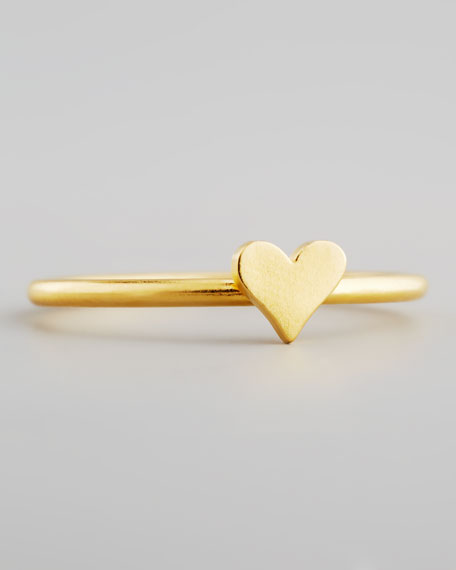 Gold Vermeil Heart Ring