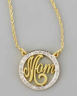 Kacey K Mom Small Diamond Pendant Necklace
