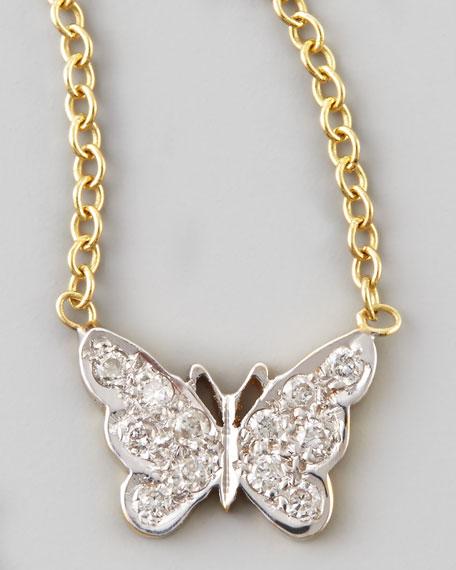Mini Diamond Butterfly Necklace