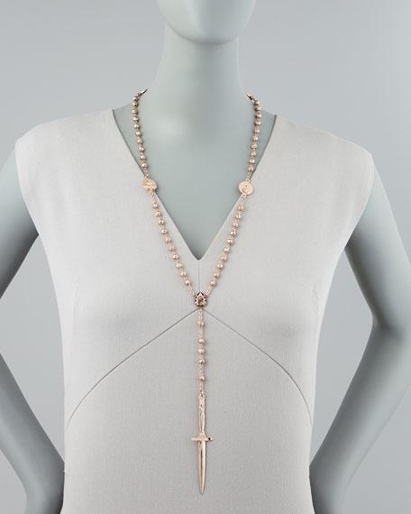 Rosebud Dagger Rosary Necklace