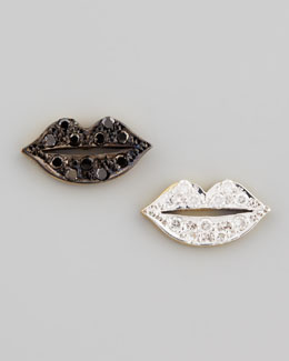Kacey K Mini Diamond-Lip Stud Earrings