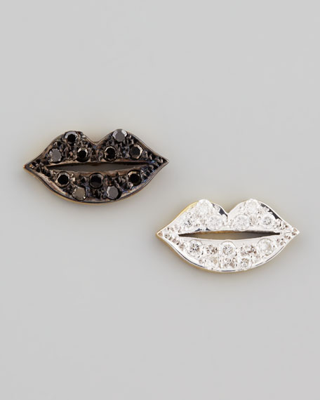 Mini Diamond-Lip Stud Earrings