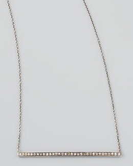 Zoe Chicco Black Diamond Bar Necklace