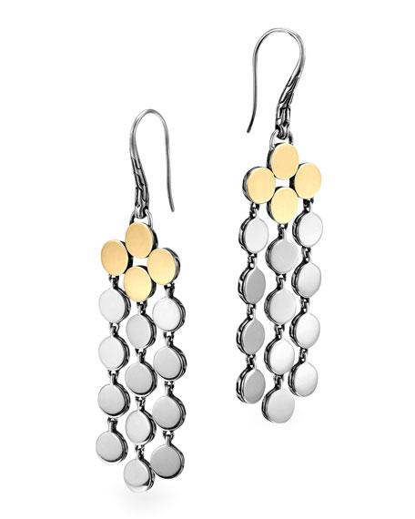 Dot Silver & 18k Gold Chandelier Earrings