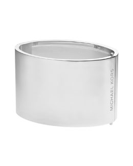 Michael Kors  Wide Engraved Hinge Bangle