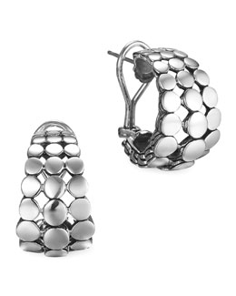 John Hardy Silver Dot Buddha Belly Earrings