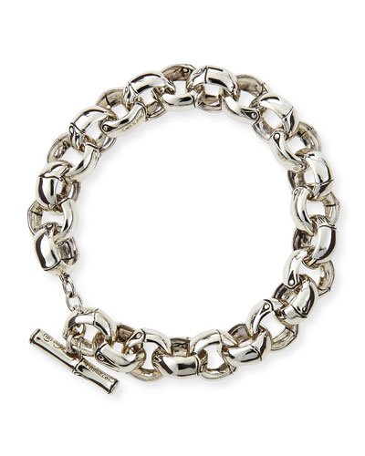 John Hardy Bamboo Silver Small Rolo Link Bracelet