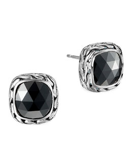 John Hardy Batu Chain Hematite Stud Earrings