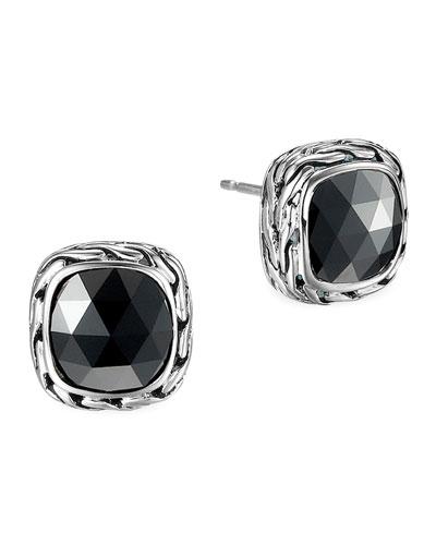 John Hardy Batu Chain Hematite Stud Earrings