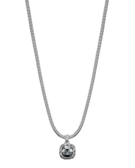 Batu Chain Hematite Pendant Necklace, Small
