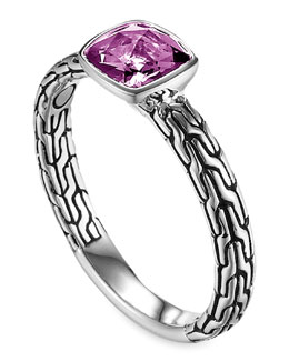 John Hardy Batu Chain Amethyst Ring, Small