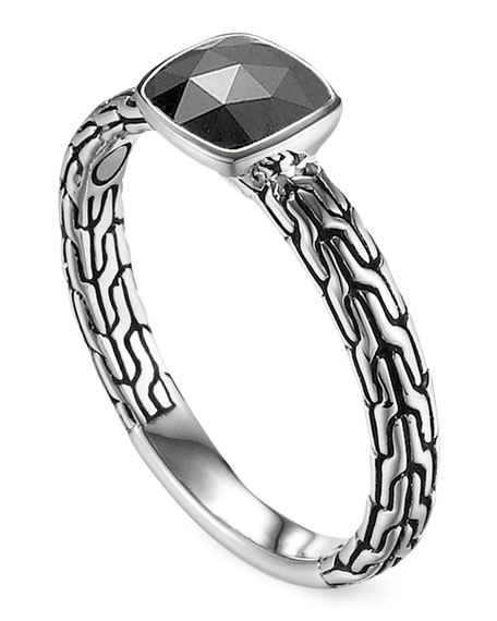 Batu Chain Hematite Ring, Small