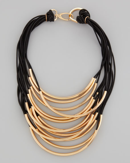 Wrapped Up Layered Tube Necklace