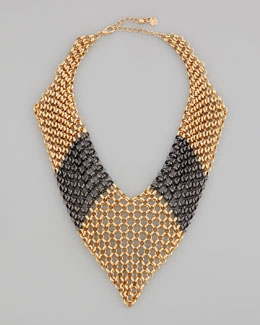Jules Smith Knights Armor Chain Bib Necklace