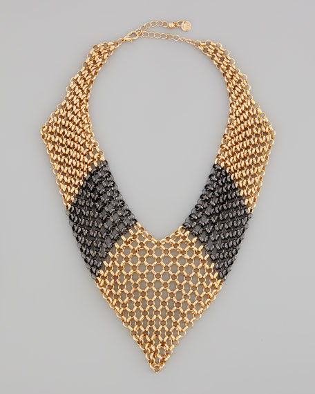 Knights Armor Chain Bib Necklace