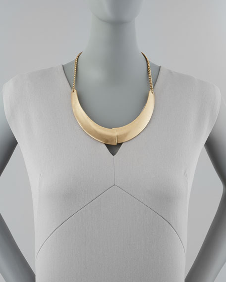 Overlap-Plate Collar Necklace