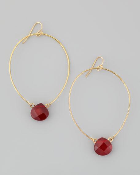 Crystal Teardrop Hoop Earrings
