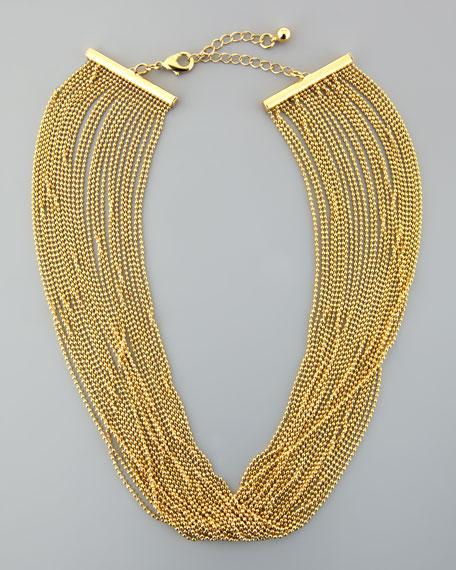 Slinky Multi-Strand Chain Necklace