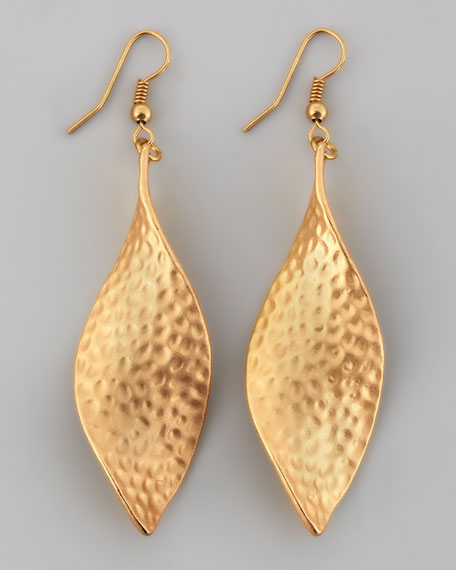 Twisted Hammered Drop Earrings