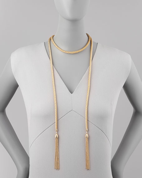Golden Lariat Tassel Necklace (Stylist Pick!)