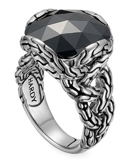 John Hardy Batu Chain Hematite Ring, Medium