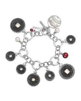John Hardy Batu Coin Charm Bracelet