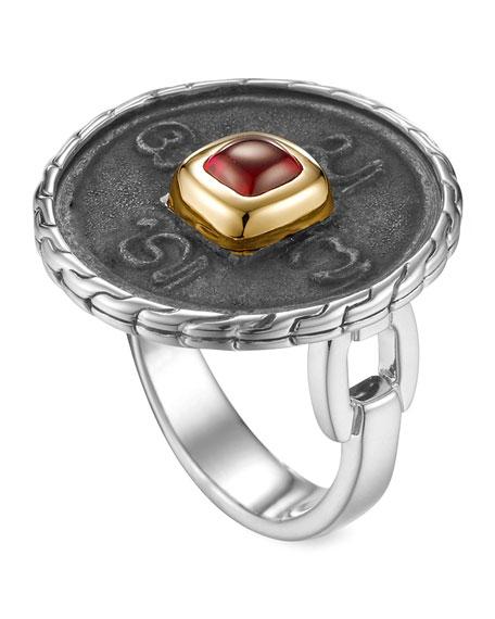 Batu Chain Gold-Plate & Silver Coin Ring