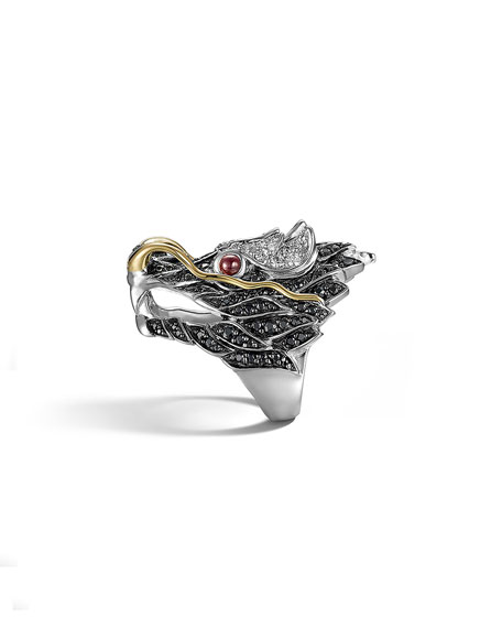 Pave Naga Dragon Head Ring