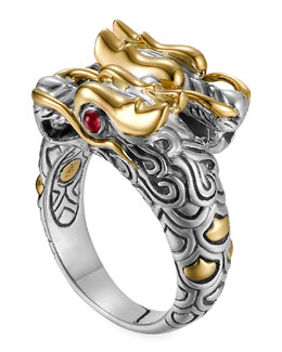 John Hardy Batu Naga Gold/Silver Dragon Ring